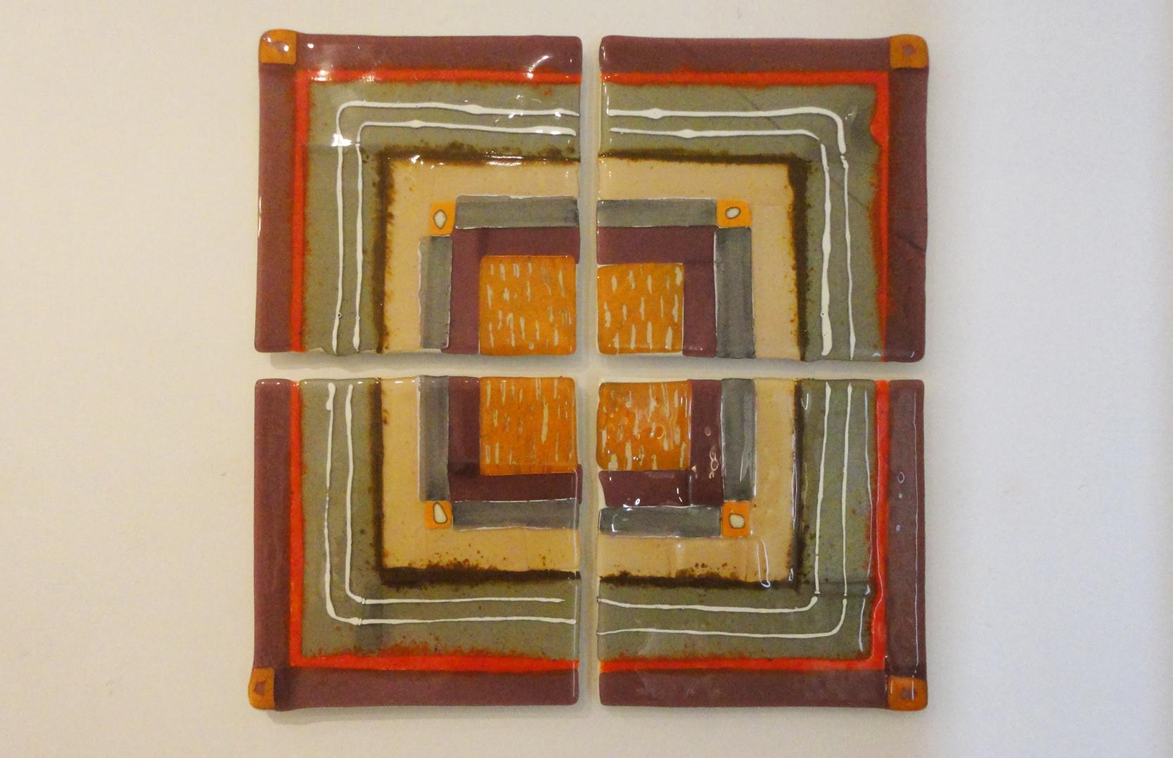 """Composizione quadrati"" 4 pezzi (cm 30X30 cad)"