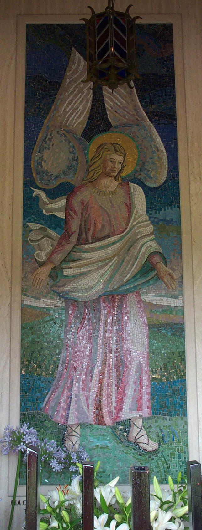 """Mosaico """"Angelo con velo"""""""