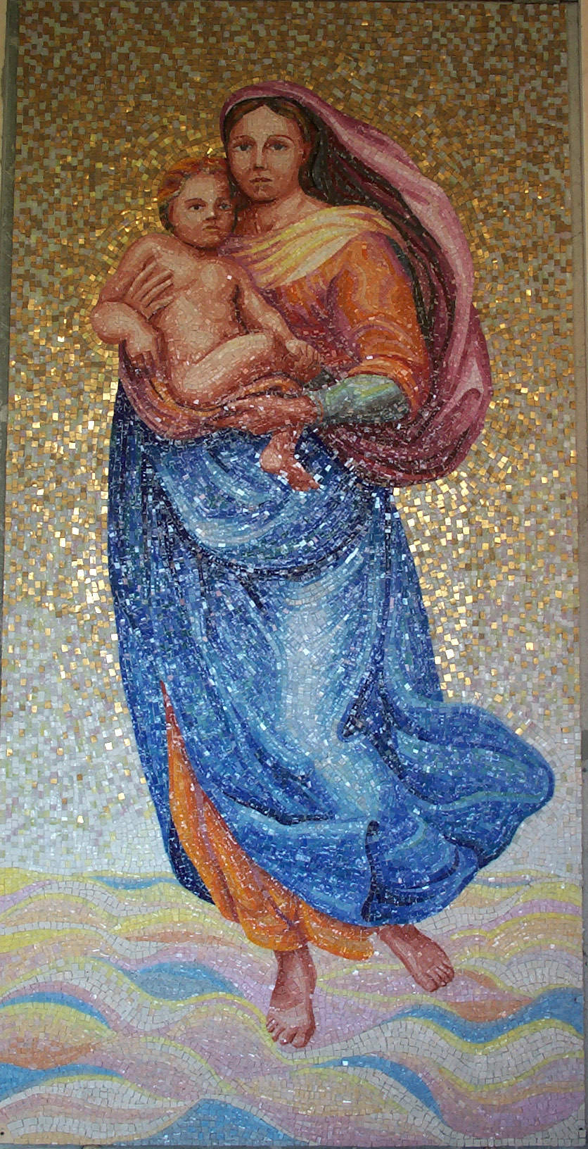 """Mosaico """"Madonna con bambino"""""""