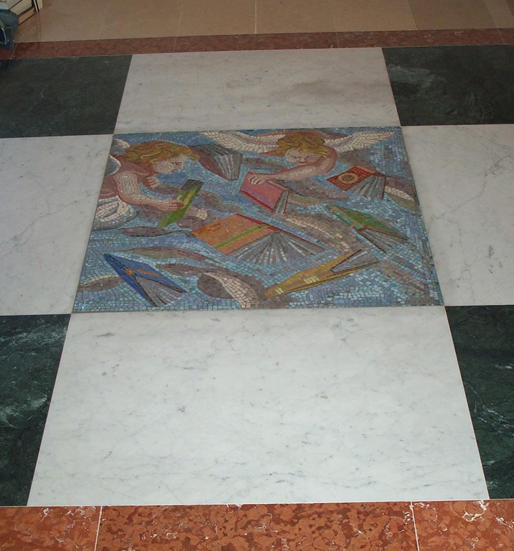 Mosaico per biblioteca