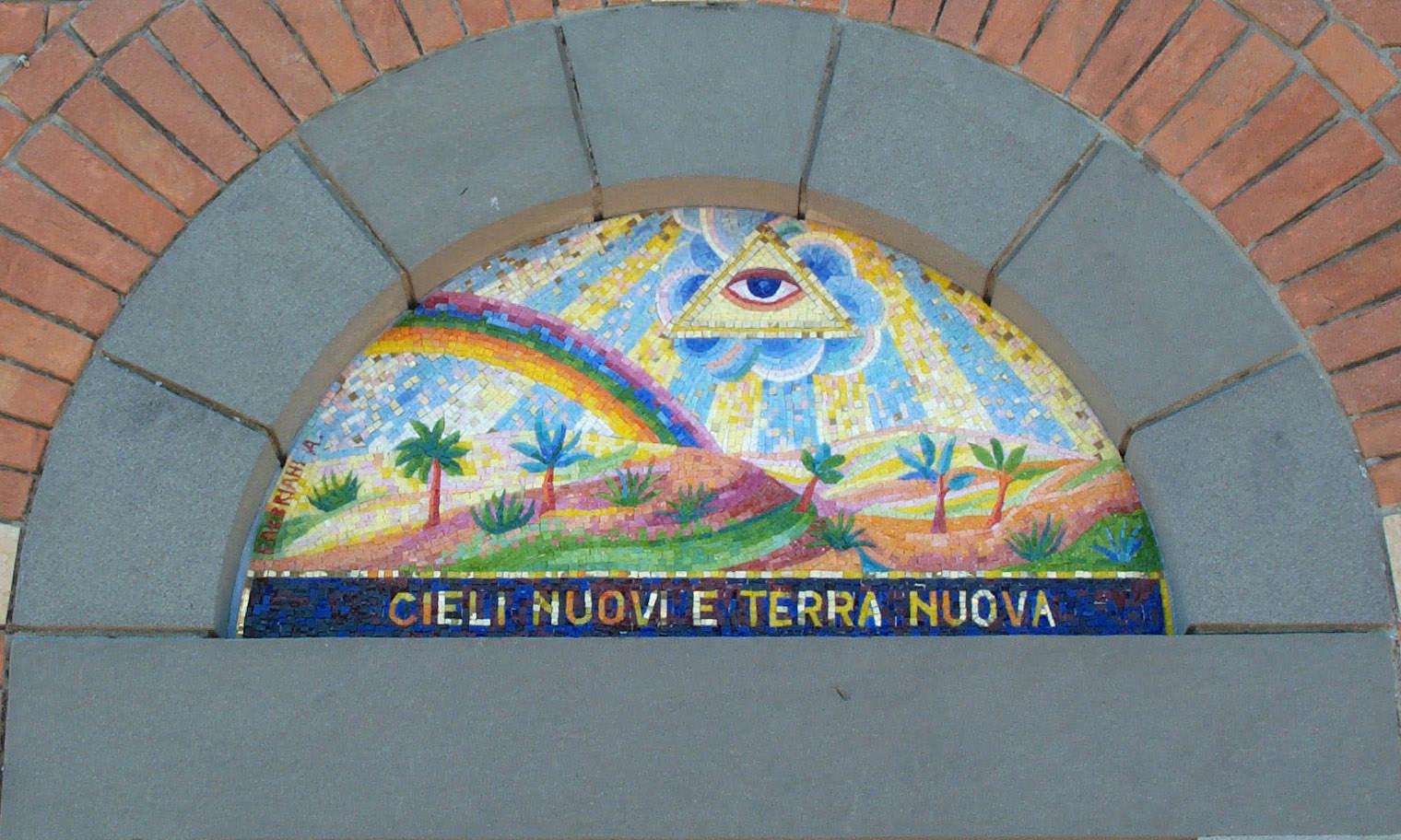 """Mosaico per chiesa """"Cieli nuovi e terra nuova"""""""