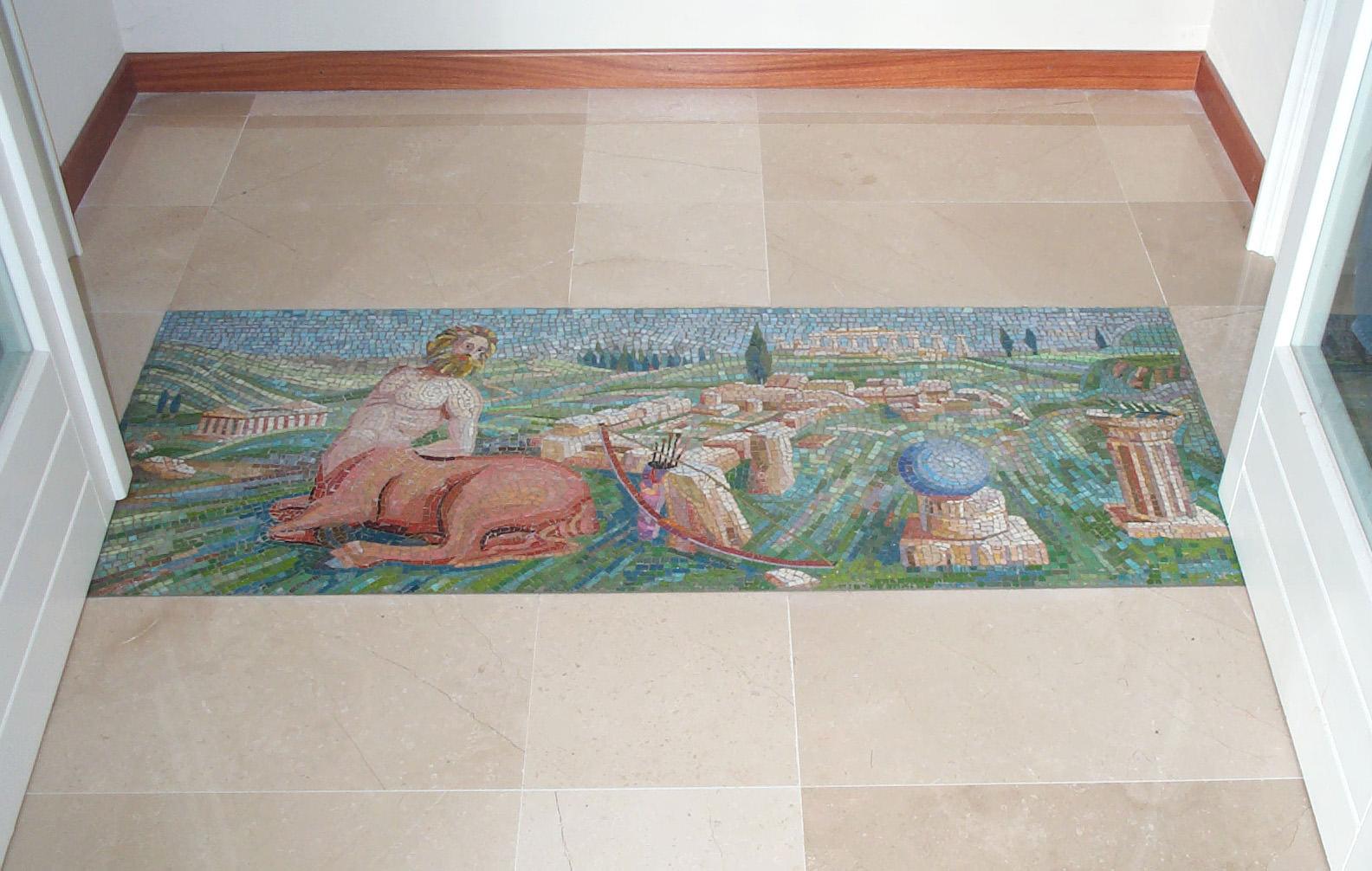 "Pavimento a mosaico ""Minotauro"""