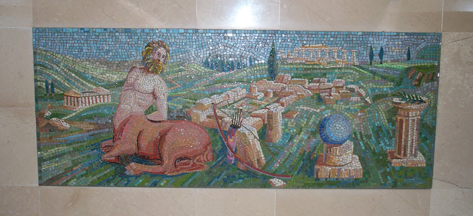 "Particolare pavimento a mosaico ""Minotauro"""