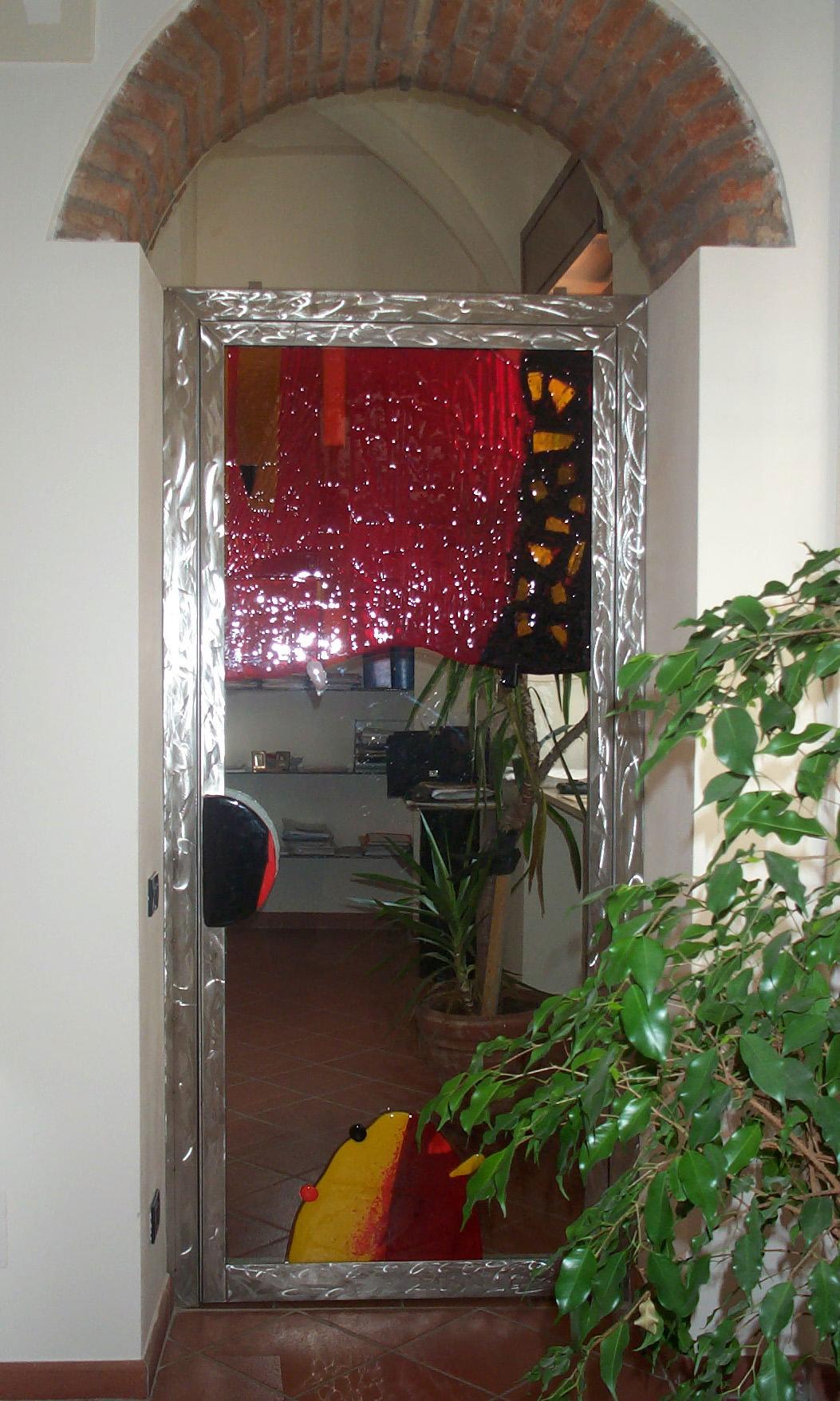 Porta interna con inserti vetro fusione