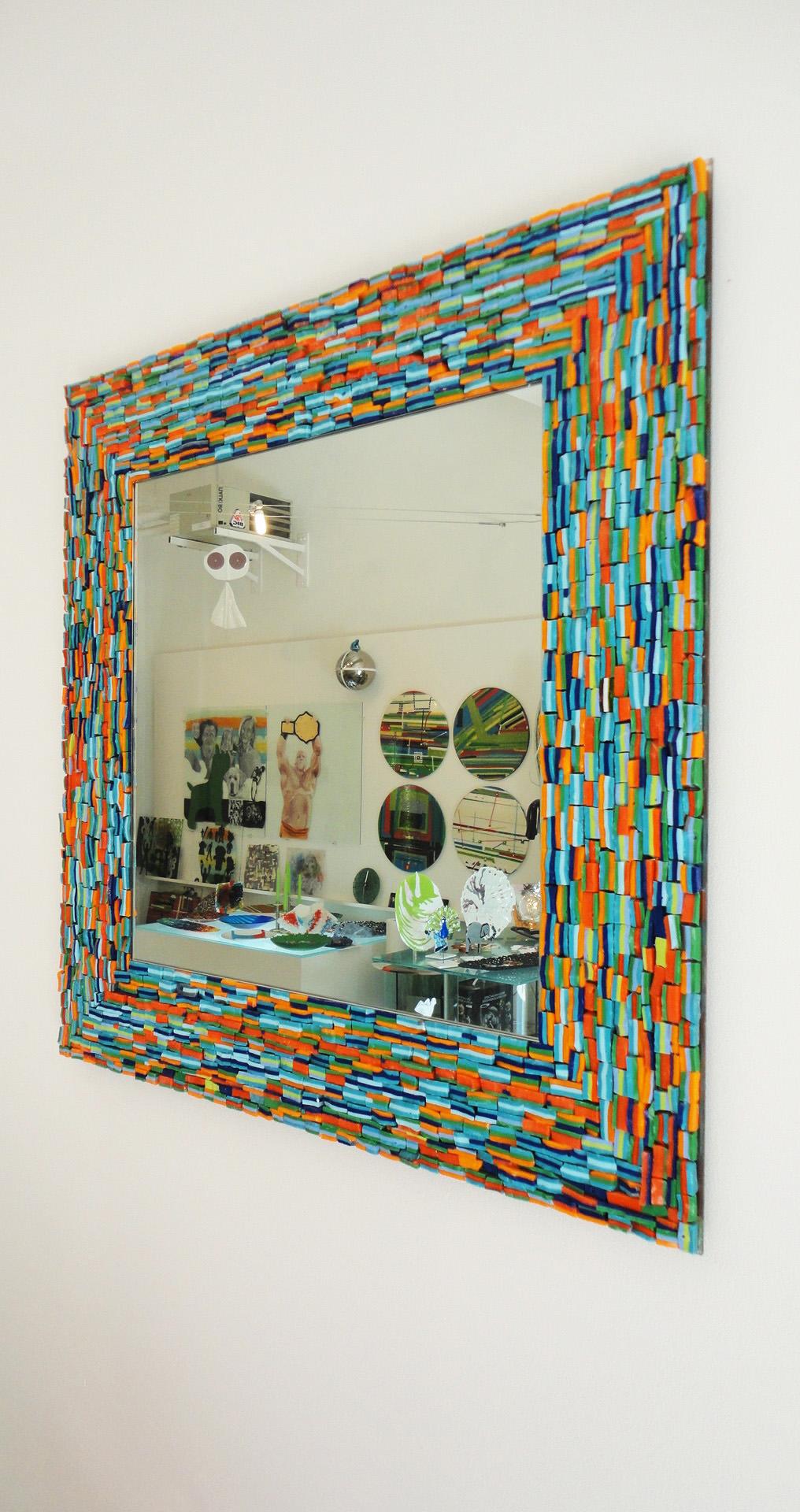specchio -mosaico-  cm 80x60